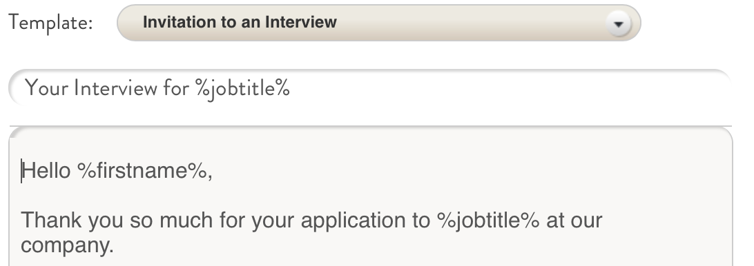 How to schedule phone and in person interviews fitzii 4 choose the appropriate invitation template customize the dates times and anything else youd like to edit fields marked with symbols like pronofoot35fo Image collections
